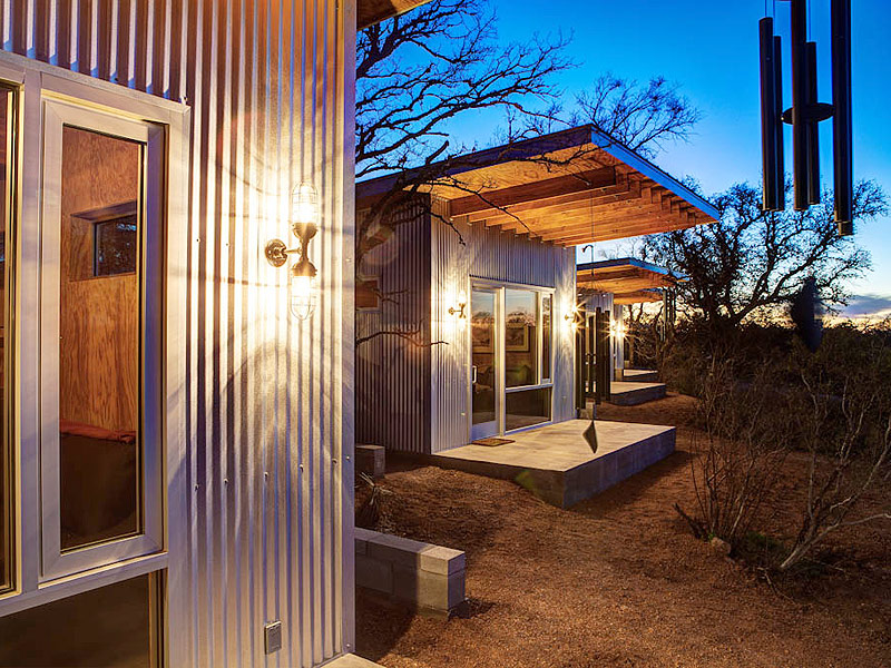 Tiny House Compound In Texas Goes Viral As Bestie Row
