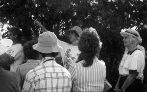 """""""Early planning for Cibolo Nature Center with Chris Turk, Carolyn Chipman Evans, and Juanita Chipman.'"""