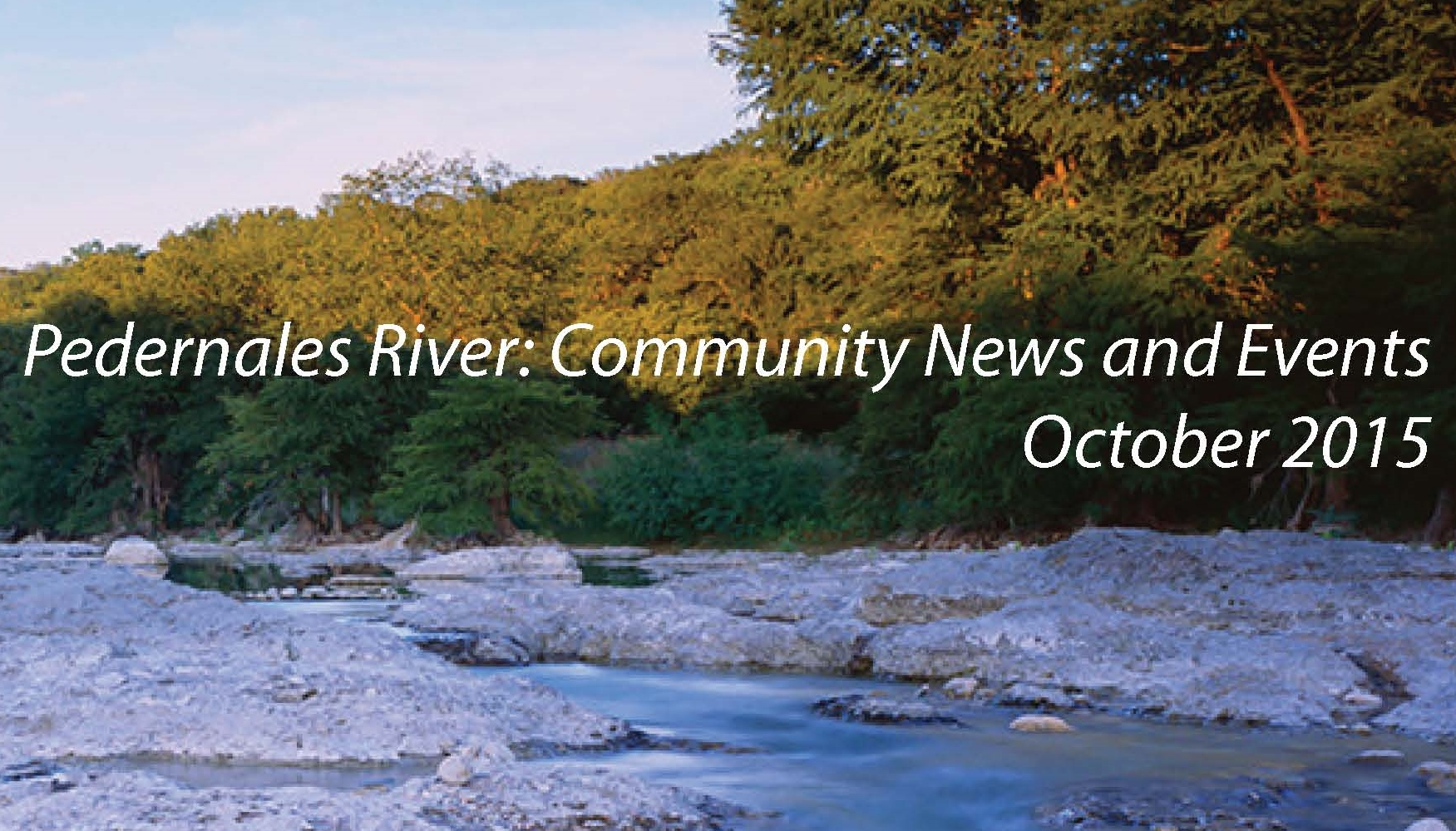 October Pedernales Newsletter Available