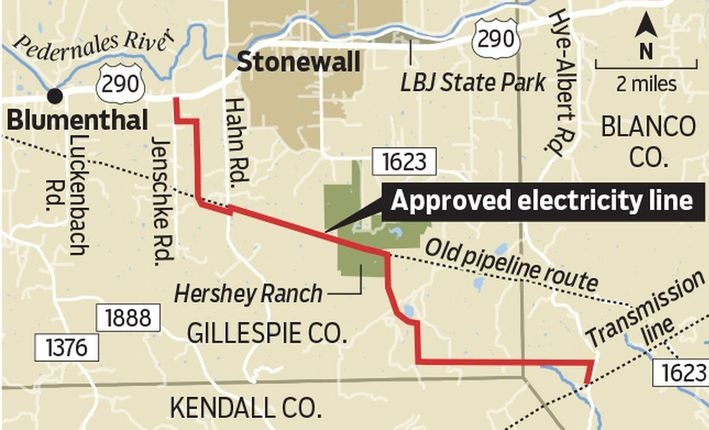 Transmission line pits land preservation against electric power grid