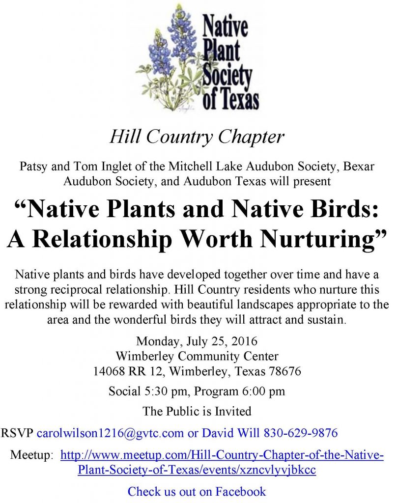 NPSOT Hill Country Flyer July 2016