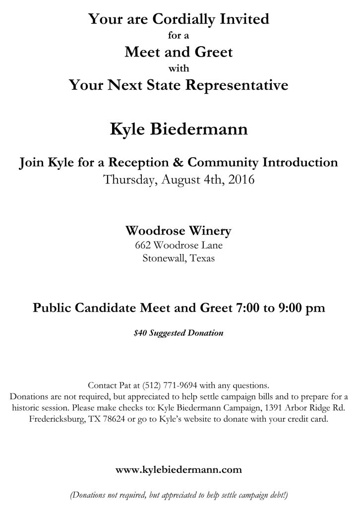 Rep-Elect Biedermann_Meet and Greet