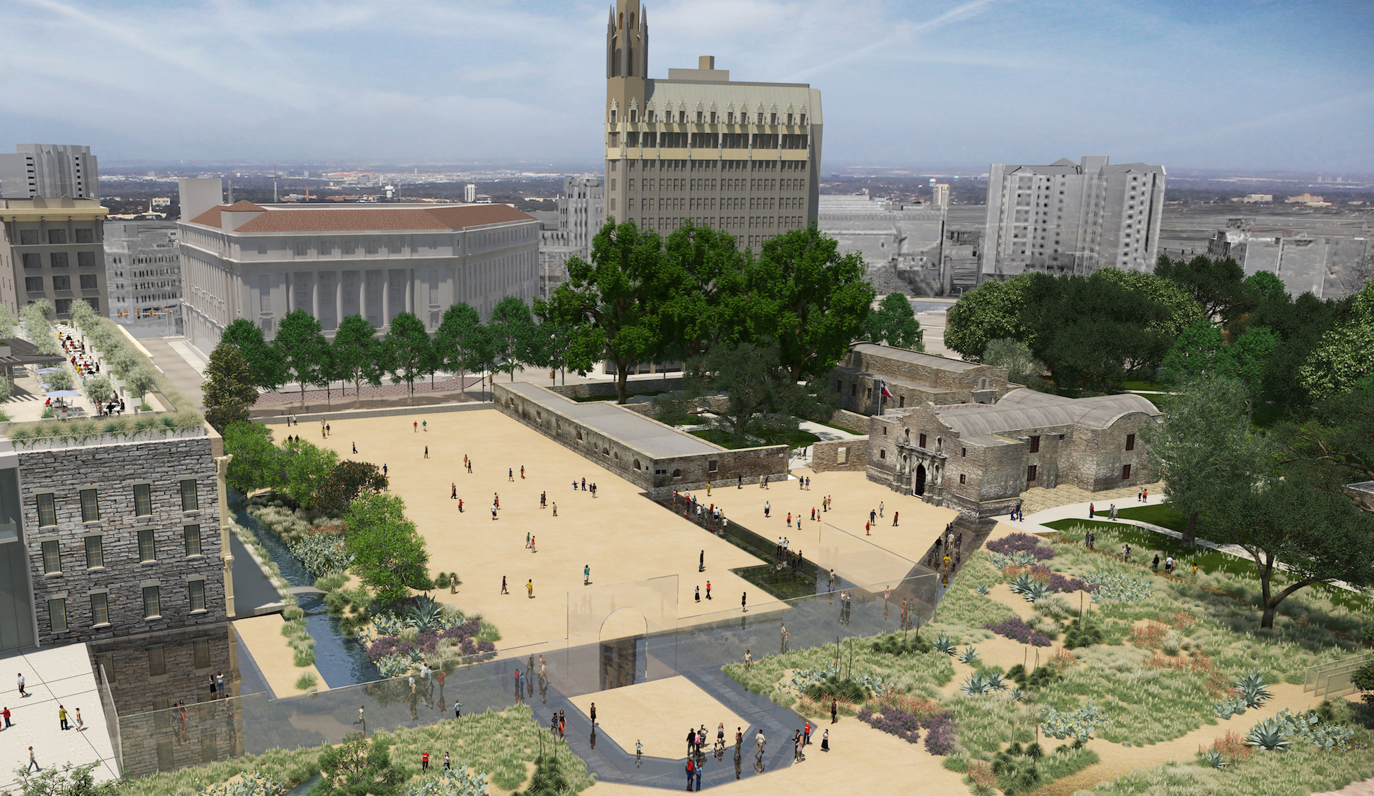 Reimagined Alamo Plaza Design Ignores 1871 Deed by Enclosing Plaza