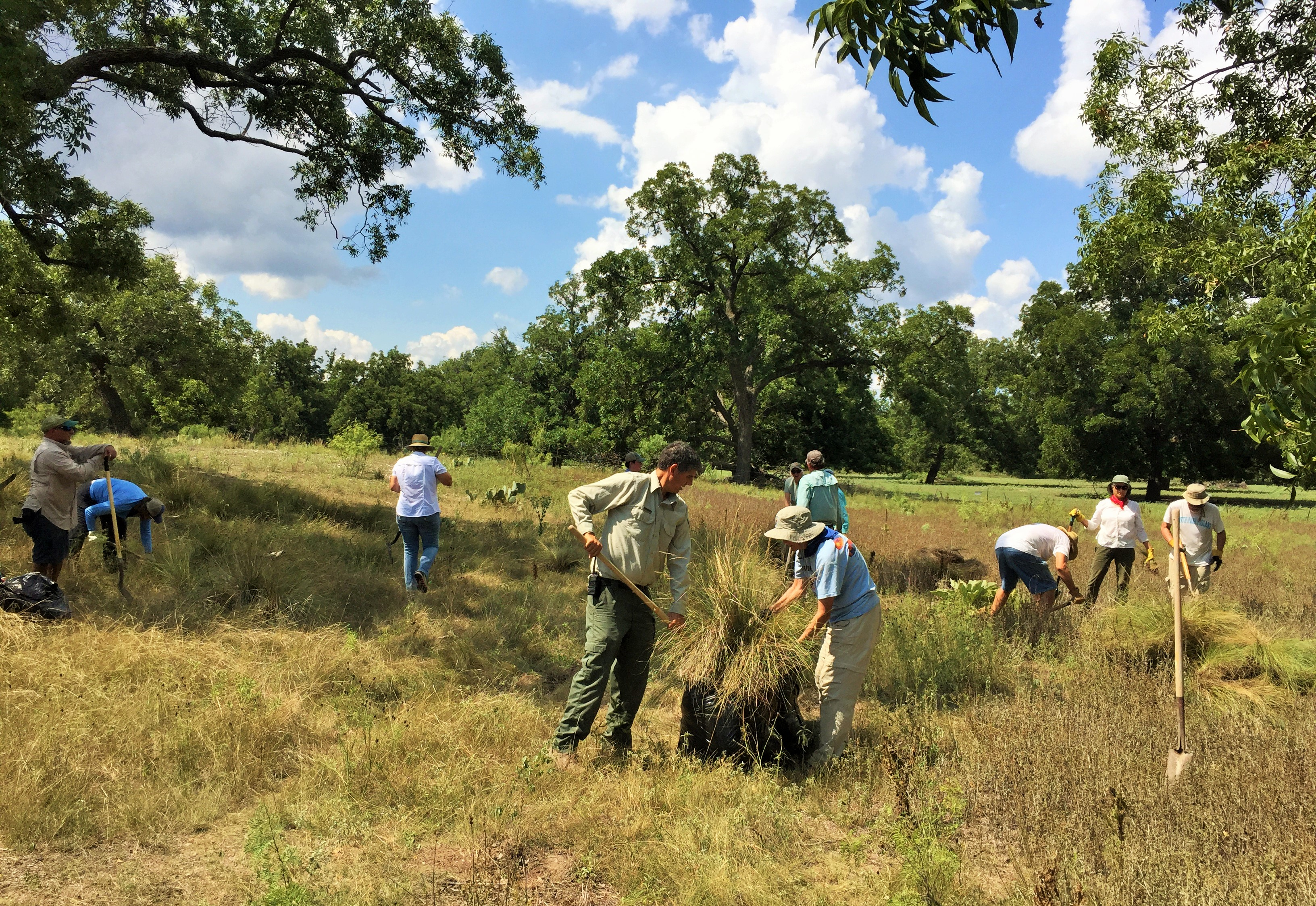Volunteers clean up South Llano River