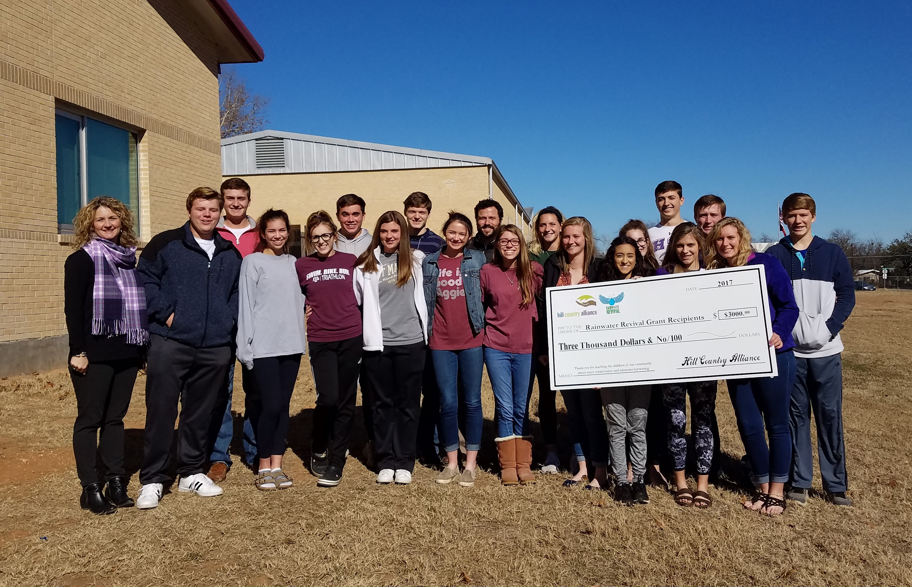 Schools in Mason and Center Point Win Rainwater Revival Grants to Fund Water Conservation Projects