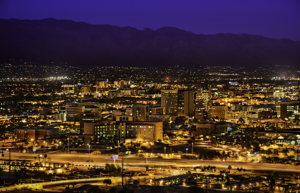 Tucson, Arizona, U.S. Skyglow Reduced 7% after Street Light Conversion