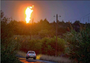 water gas flare fracking texas energy
