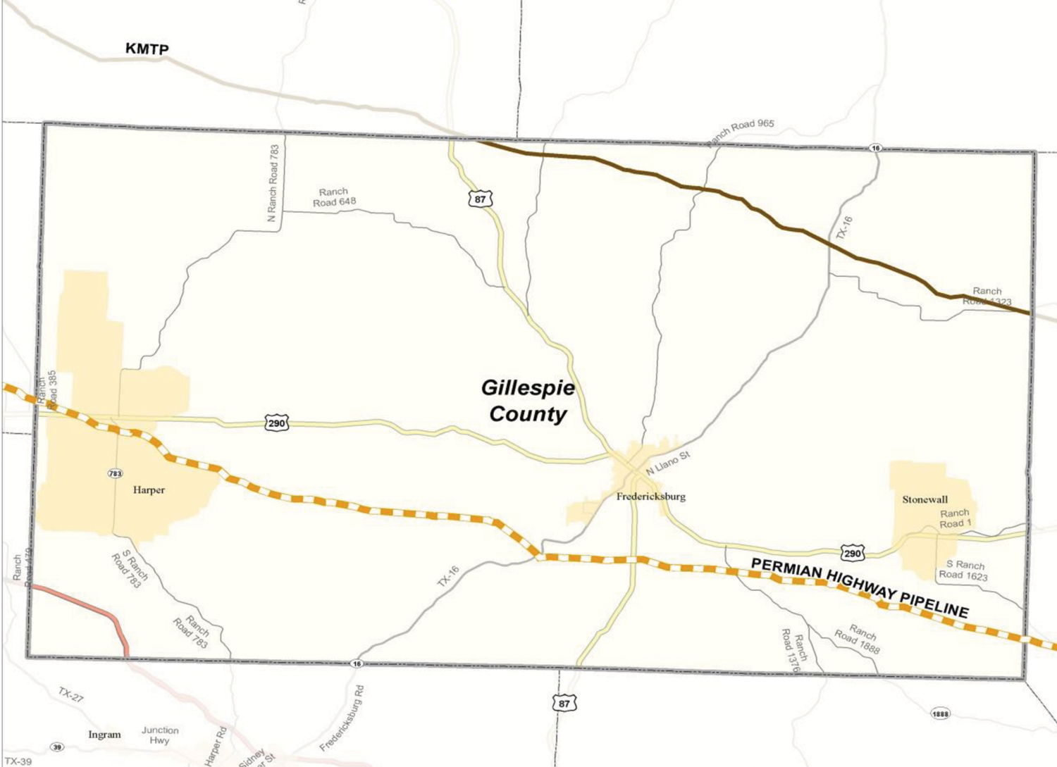Natural gas pipeline will cross county