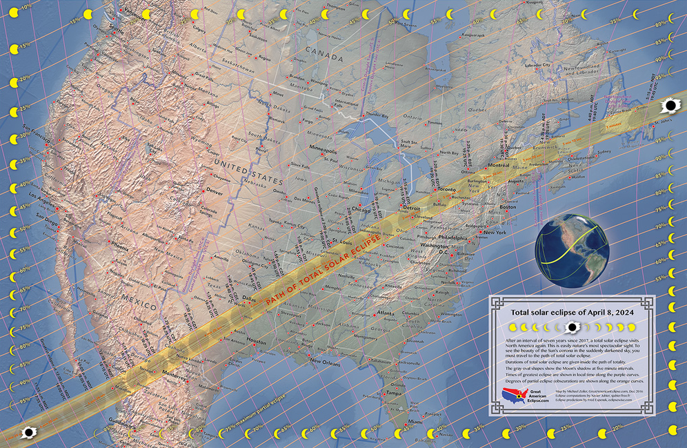 It's not too early to plan for the Great American total solar eclipse of 2024