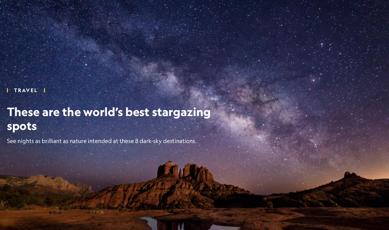 These are the world's best stargazing spots