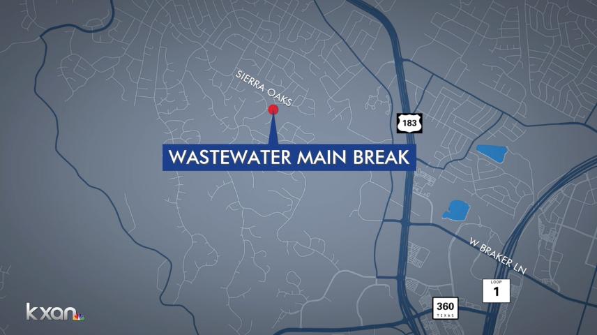 Austin wastewater main break causes 100,000-gallon sewage spill