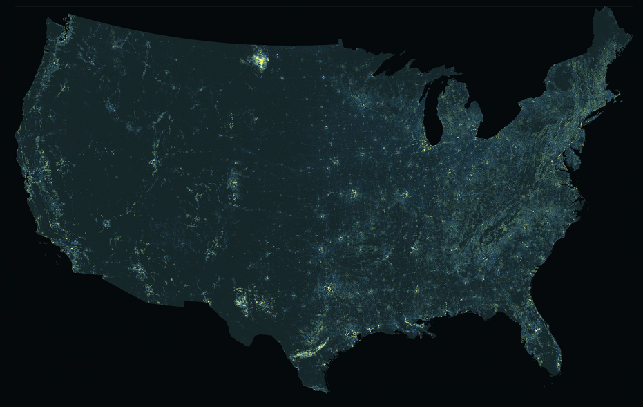 Where light pollution is seeping into the rural night sky