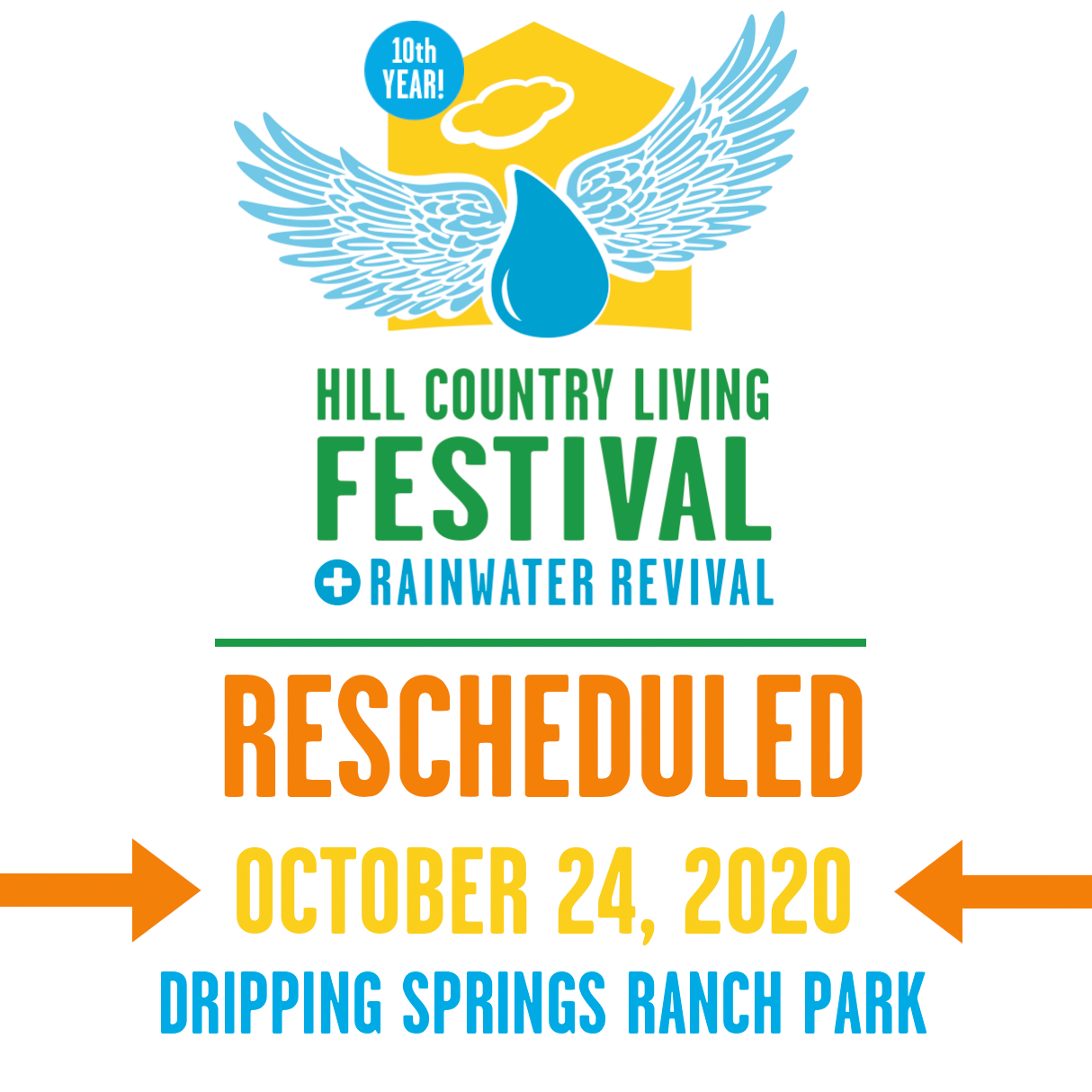 Important Update: Hill Country Living FESTIVAL Rescheduled for October 24, 2020