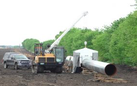 Pipeline construction halted while 'fluid loss' incident investigated
