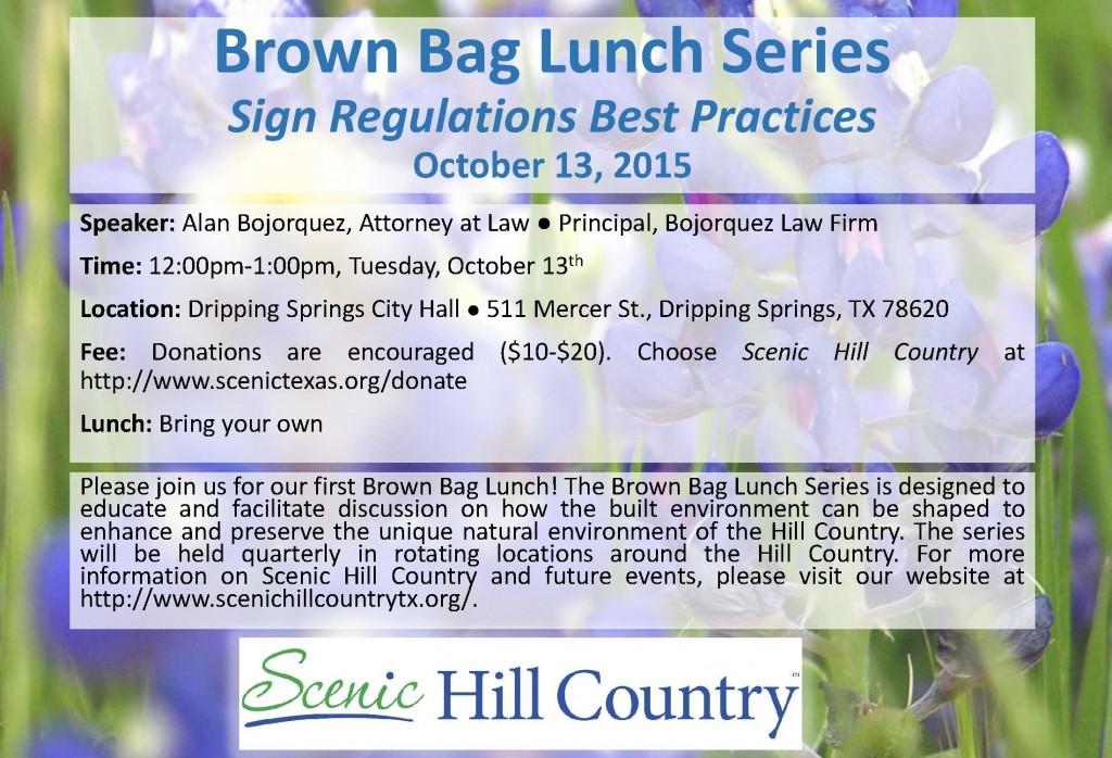SHC Brown Bag Lunch Series October