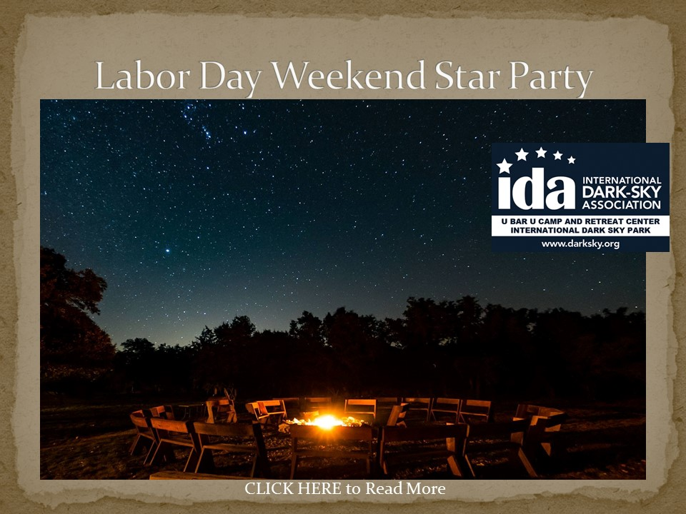 Labor Day Weekend Star Party