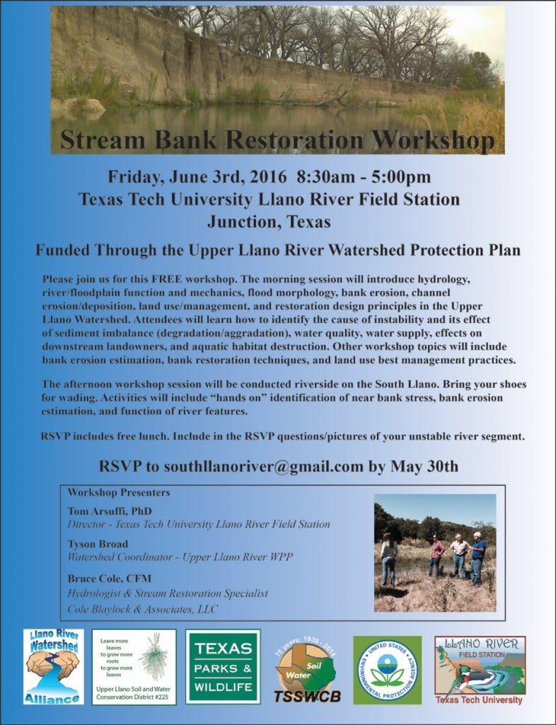 Stream Bank Restoration Wkshp