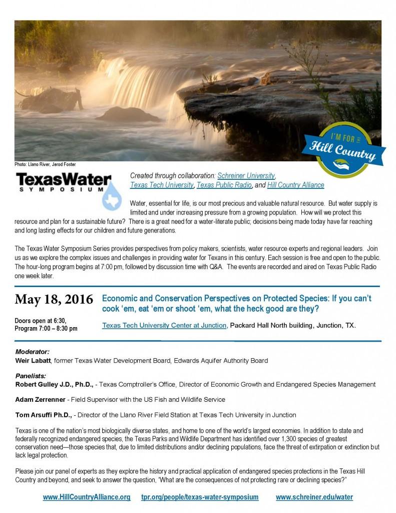 Texas Water Symposium 5.18.16