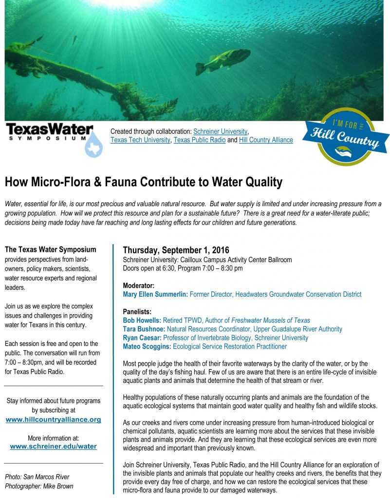 The Texas Water Symposium:  Created through the partnership with