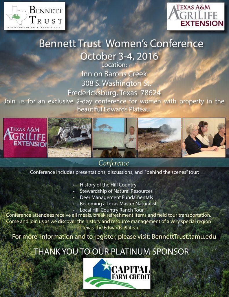Bennett Womens Conference Flyer 2016