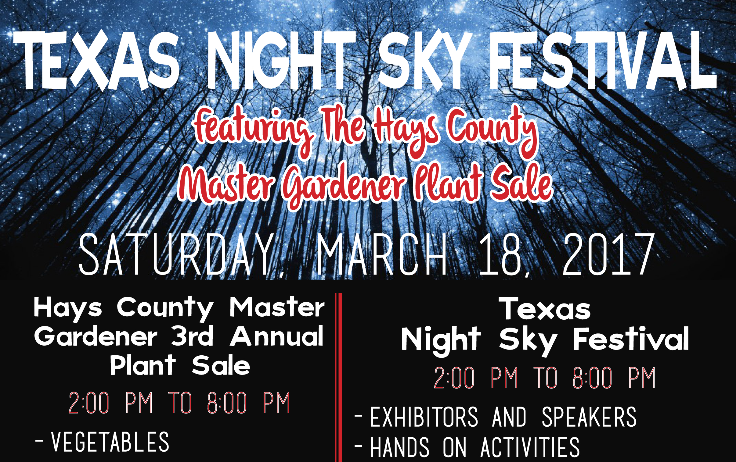 The Texas Night Sky Festival will shine brightly once again