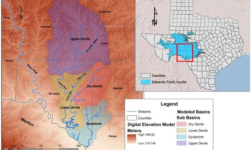 Study links groundwater with surface water in Devils River
