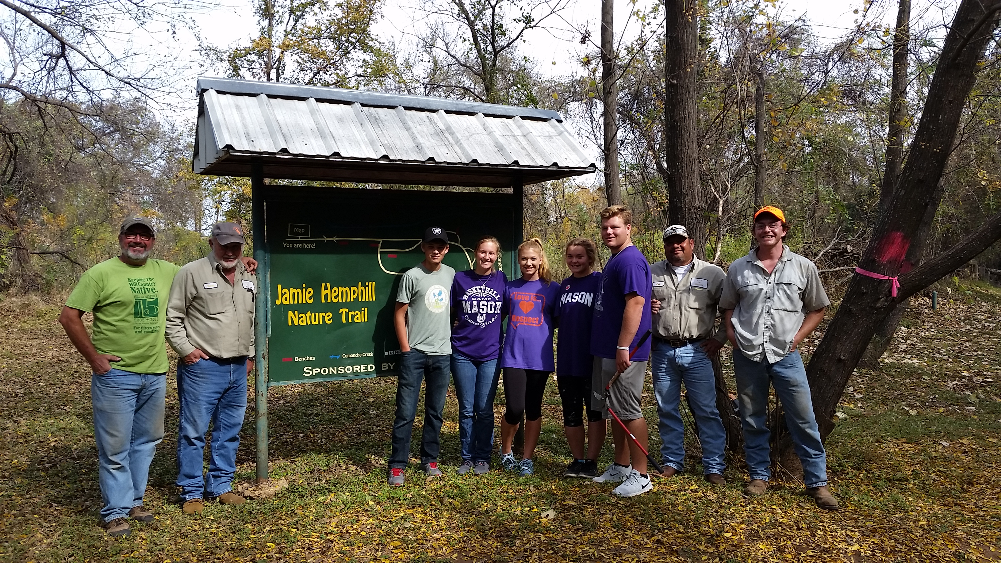 Students Work to Enhance Habitat along Comanche Creek