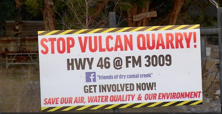 Vulcan encounters opposition to proposed quarry in Comal County