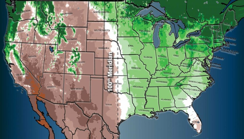 A North American Climate Boundary Has Shifted 140 Miles East Due to Global Warming