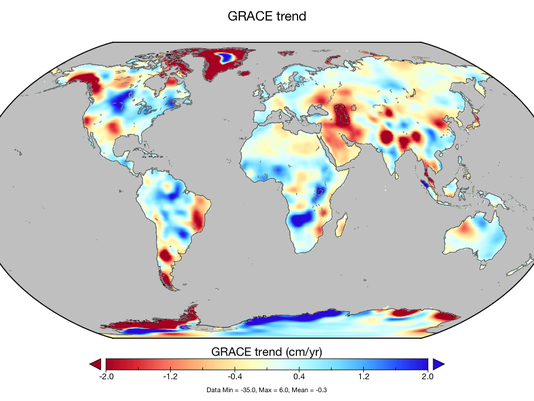 NASA study shows humans responsible for major shifts in water supply