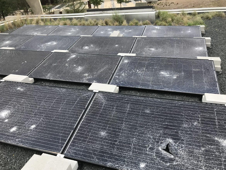 Solar Panels Vandalized at Confluence Park
