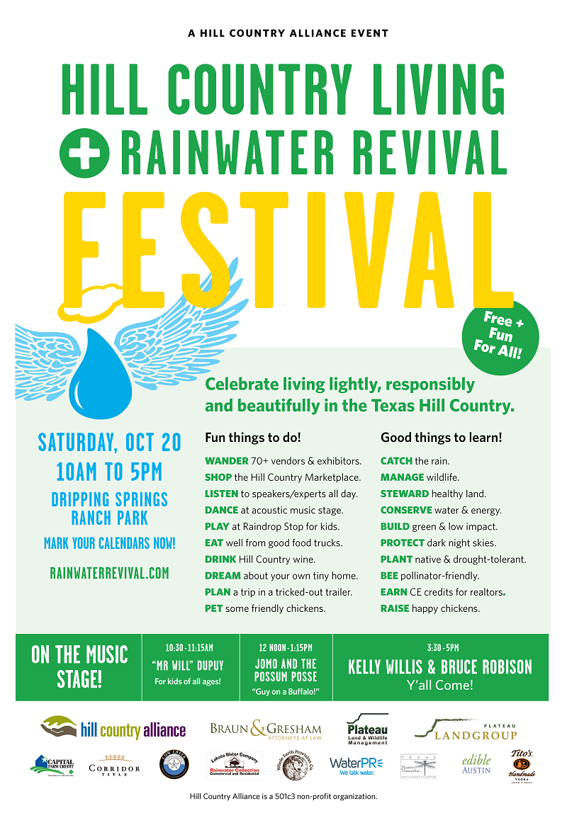 October Director's Notes: FESTIVAL, Rainwater Raffle and more!