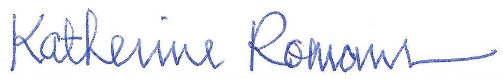 Katherine Romans signature