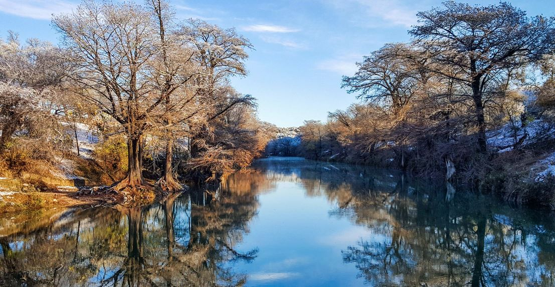 Snow On The Banks Of The Guadalupe River