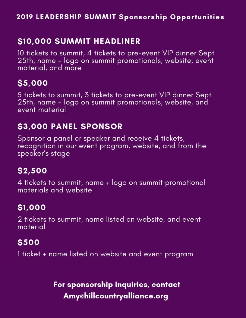 Leadership Summit Sponsorship