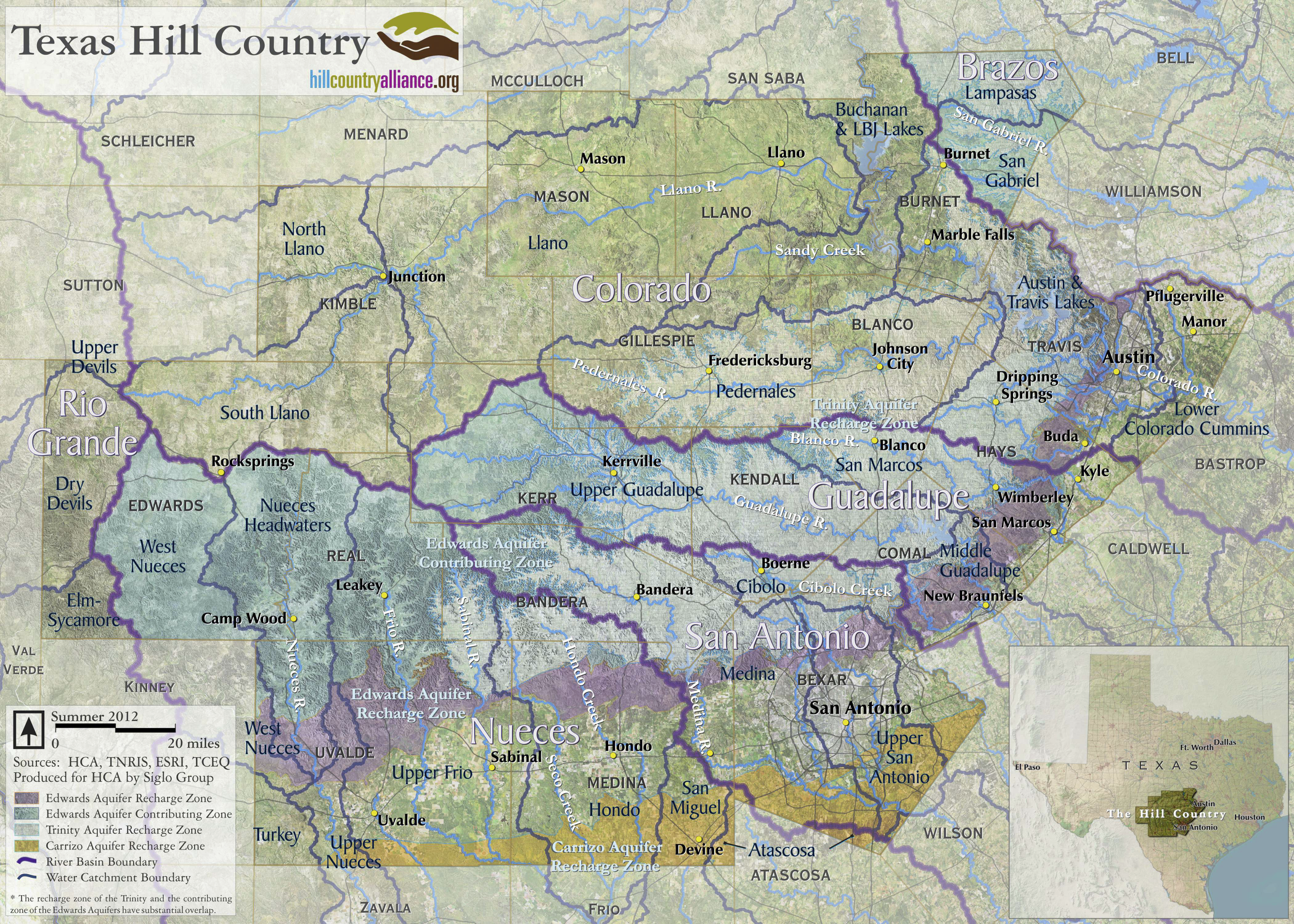 Hill Country Map 2012