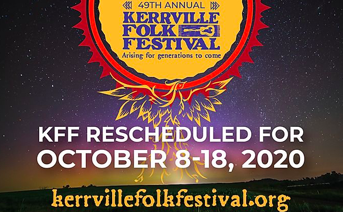 Kerrville Folk Fest rescheduled for October 8-18, 2020