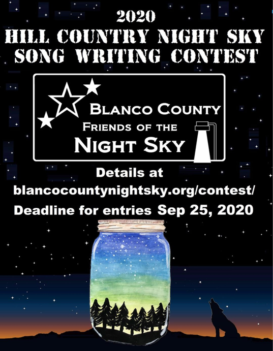 2020 Hill Country Night Sky Song Contest announced