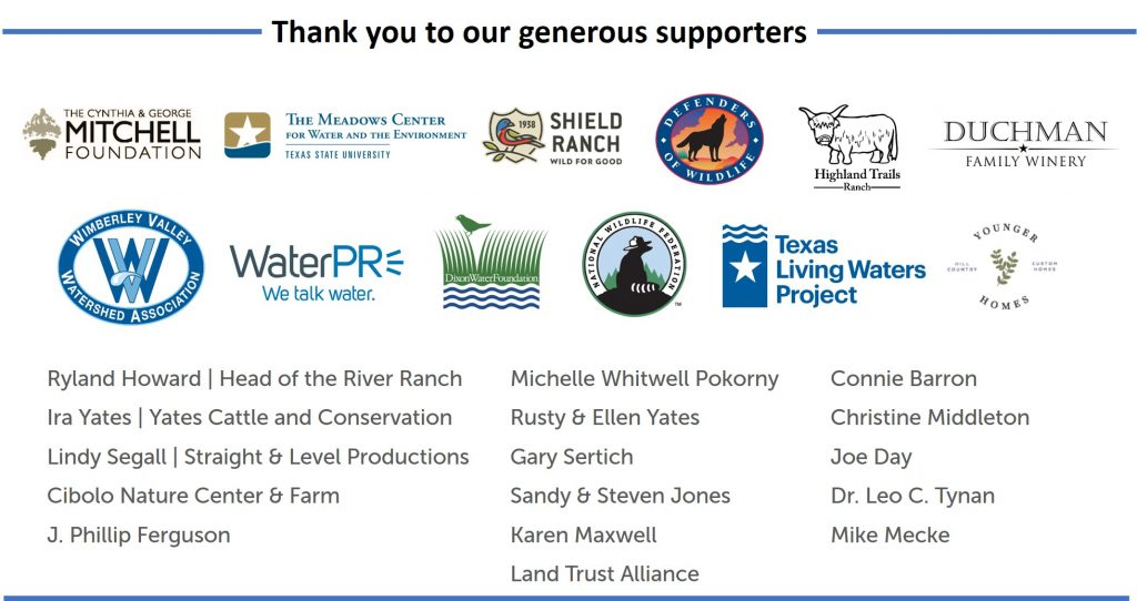 Hill Country Leadership Sponsors 2020 - Updated 9/24/2020