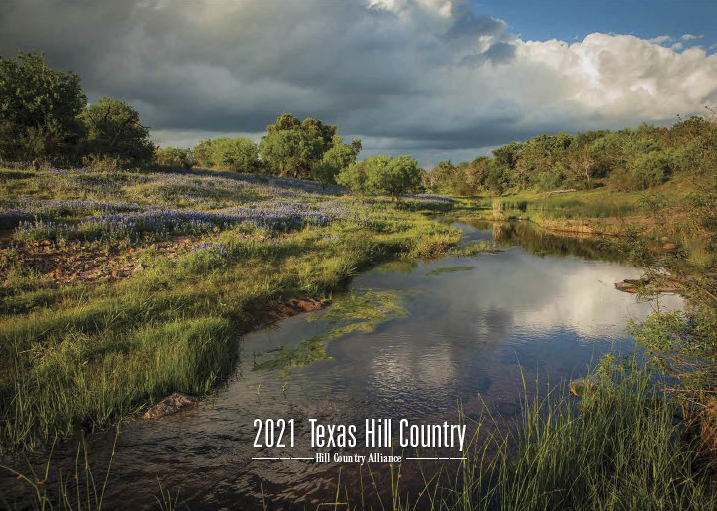 Front Cover of the 2021 Hill Country Calendar