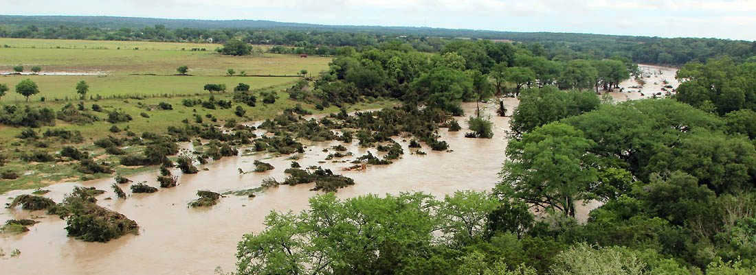 Flooding between Blanco and Kyle