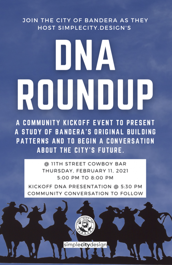 Flyer for Bandera DNA Roundup event
