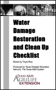 Water Damage Restoration and Clean Up Checklist
