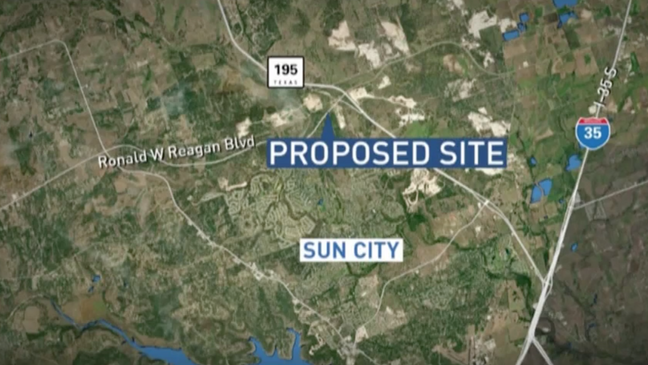 The Proposal Puts The Location Of The Plant Near Ronald Reagan And 195 (CBS Austin).