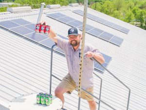 Texas Beer Company's solar setup (Courtesy of Ian Davis)