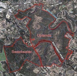 map view of Barton Creek Habitat Preserve