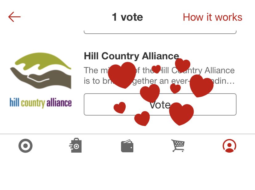 Vote for HCA when you shop using Target Circle!
