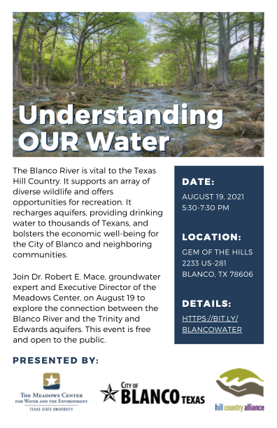 Flyer for understanding our water event