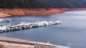 Image of boats along a lake dock