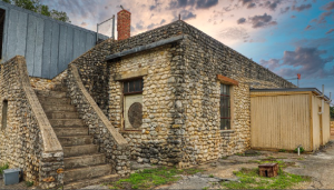 Historic water utility building from the 1930s in New Braunfels